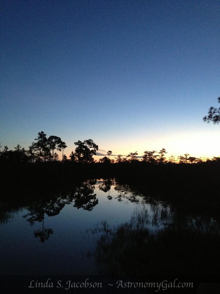 Sunrise over the Everglades